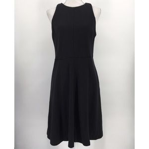 LOFT Dress Sleeveless Knit Stretch Solid Black